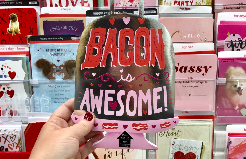 bacon card at Target