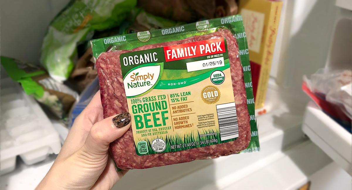 keto and low-carb foods include grass-fed ground beef pack in freezer