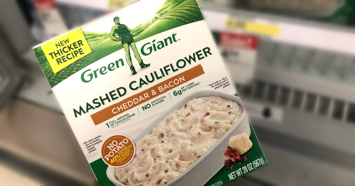 green giant mashed cauliflower with bacon