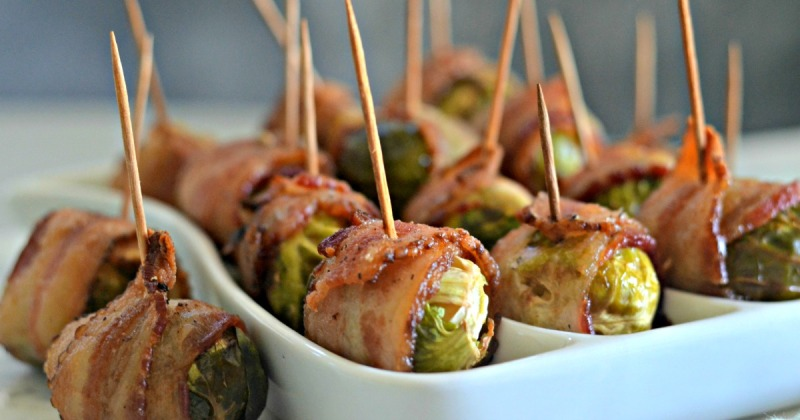 keto bacon wrapped brussel sprouts