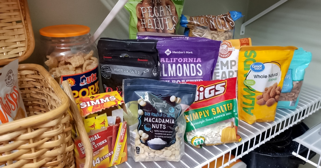 snack inside pantry that are perfect for keto