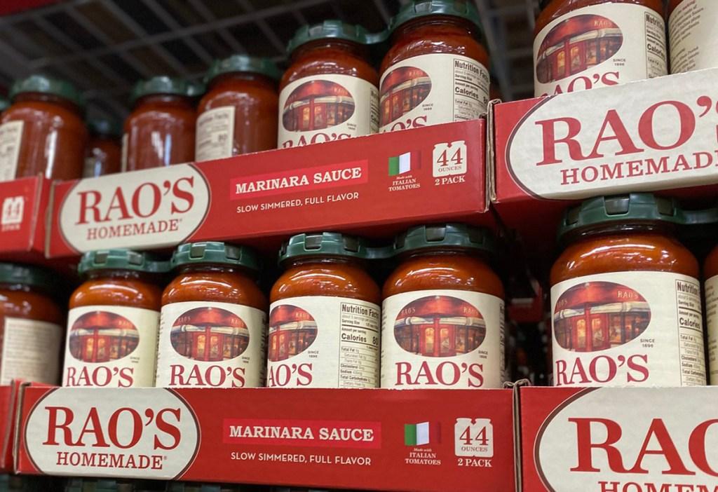 raos marinara sauce on shelf at sams club