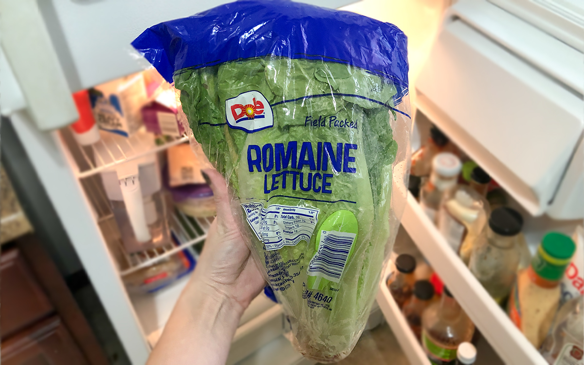 keto and low-carb foods include dole romaine lettuce in fridge