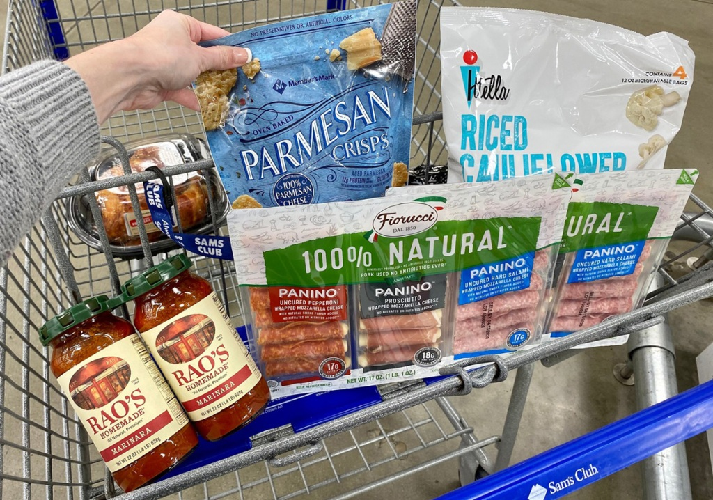 sams club keto finds in shopping cart