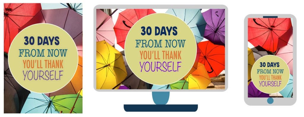 30 day challenge sign