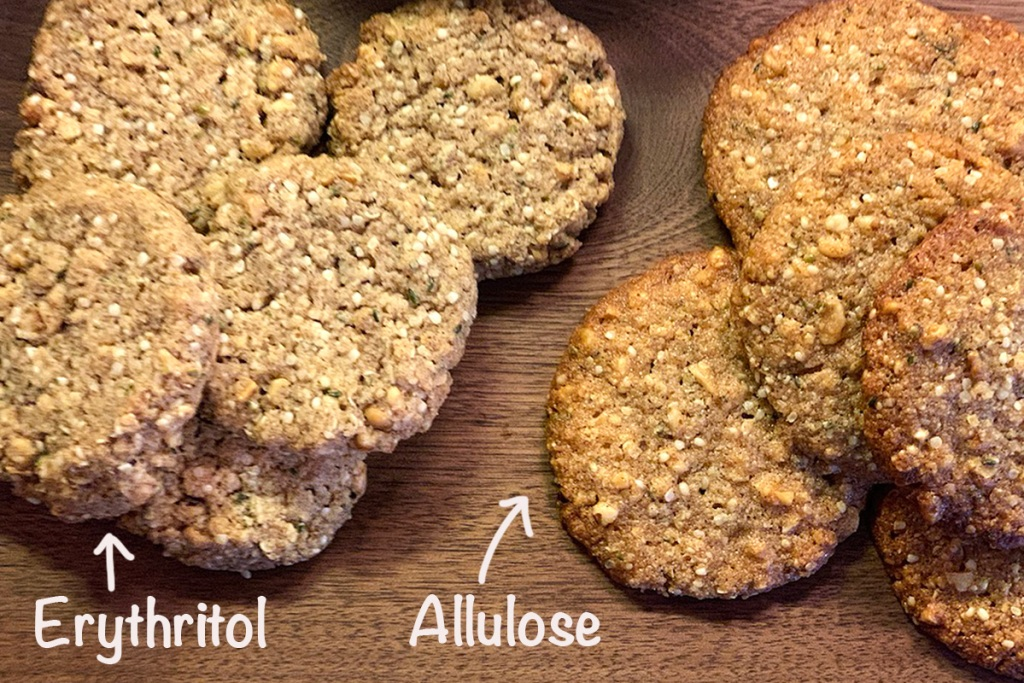 keto oatmeal cookies using erythritol and allulose