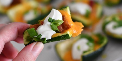 This Keto Loaded Zucchini Skins Recipe is So Easy & Yum!