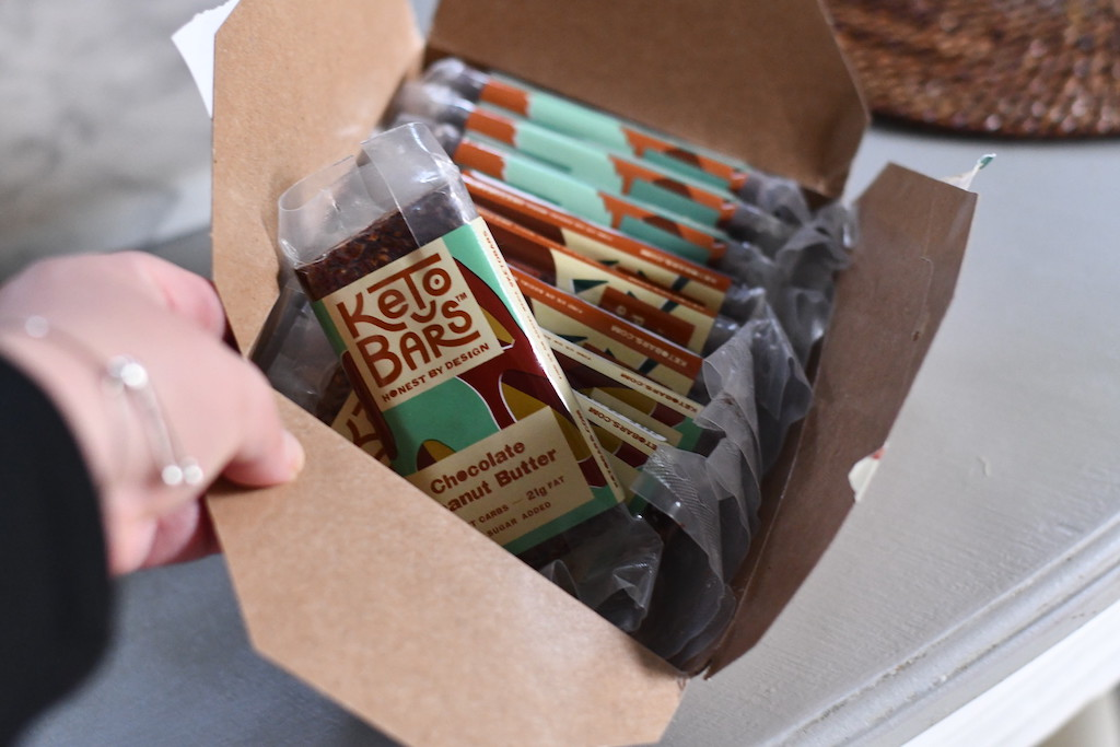 box of Keto bars