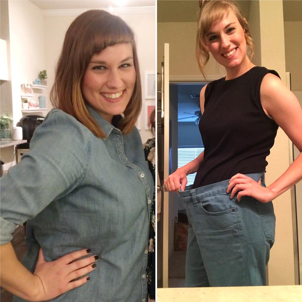 amanda weight loss comparison photo