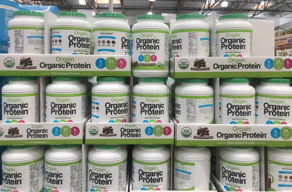 Orgain organic protein powder at Costco