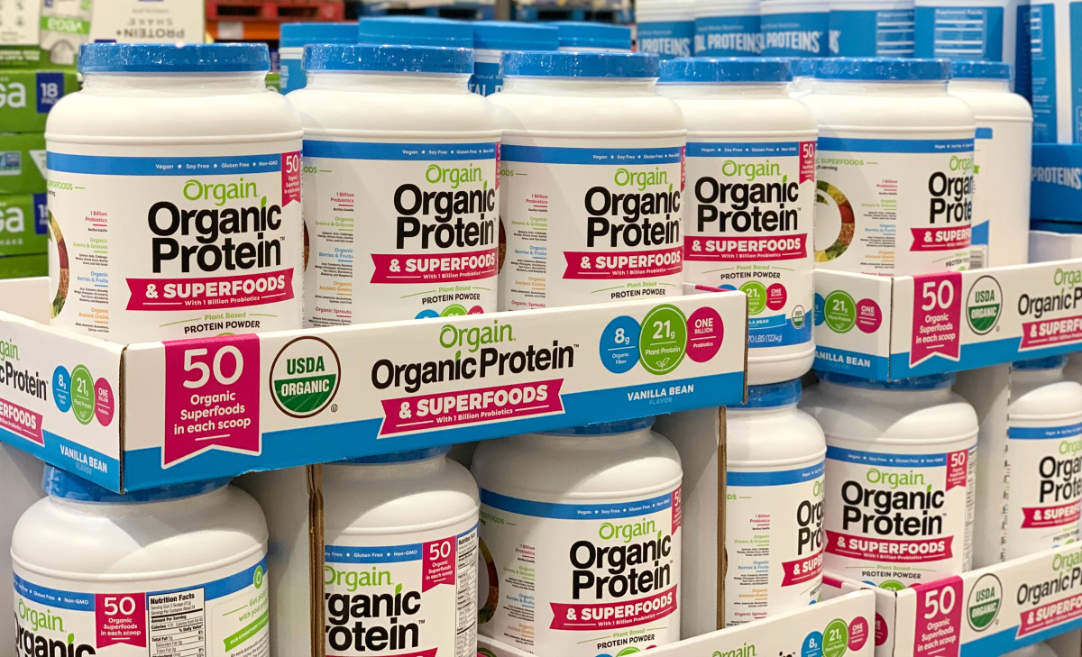 Orgain superfood protein powder Costco