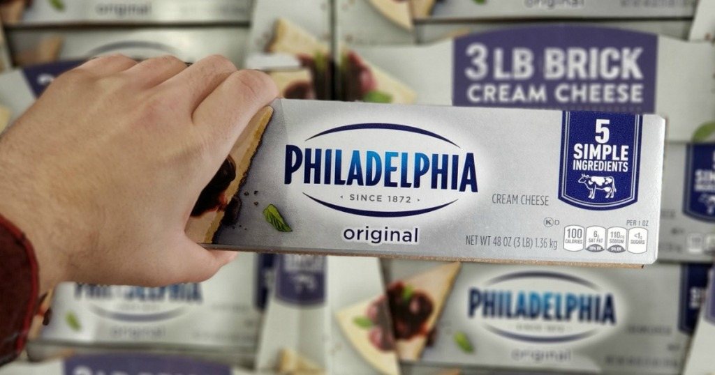 Philadelphia Cream Cheese Block at Costco