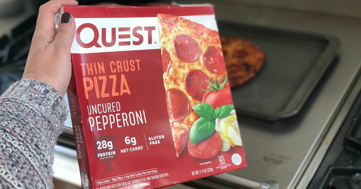 Quest frozen pizza box