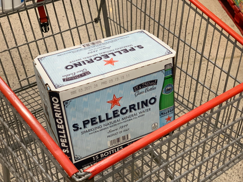 S. Pellegrino water at Costco
