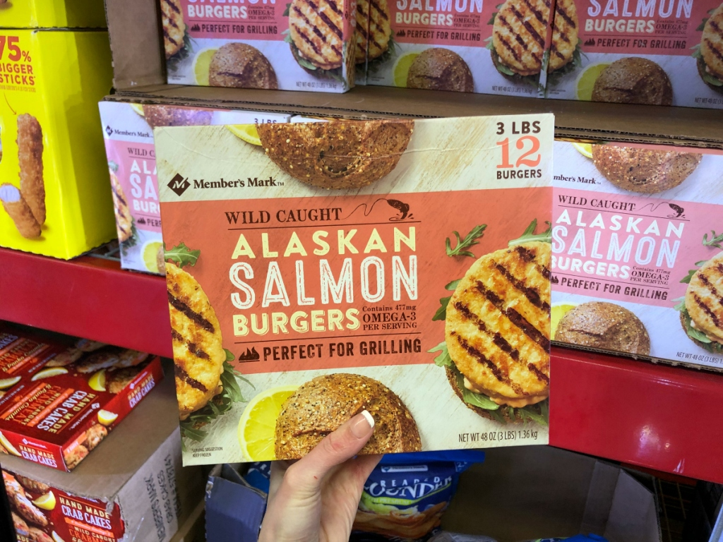 Salmon burgers Sam's Club