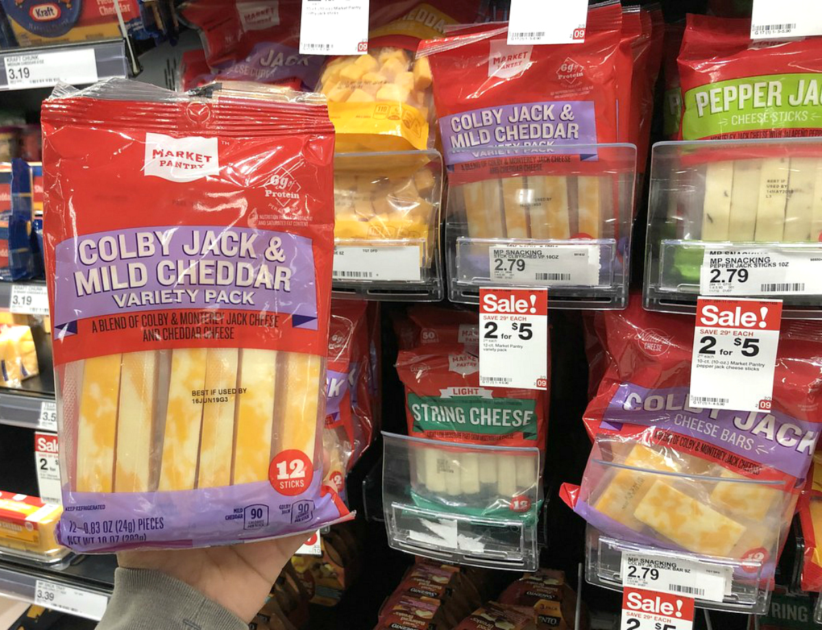 String cheese and cheese sticks at Target