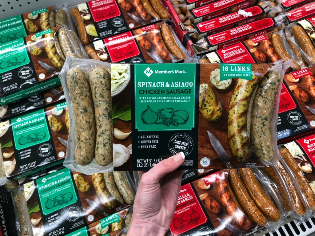 Spinach chicken sausages Sam's Club