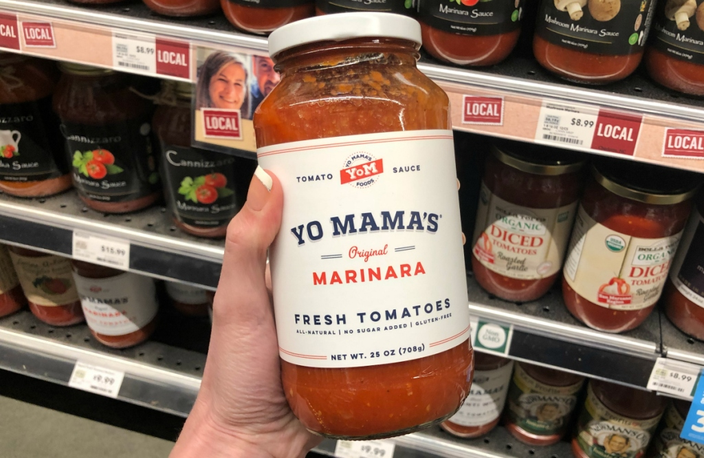 Yo Mama's Pasta Sauce at Whole Foods
