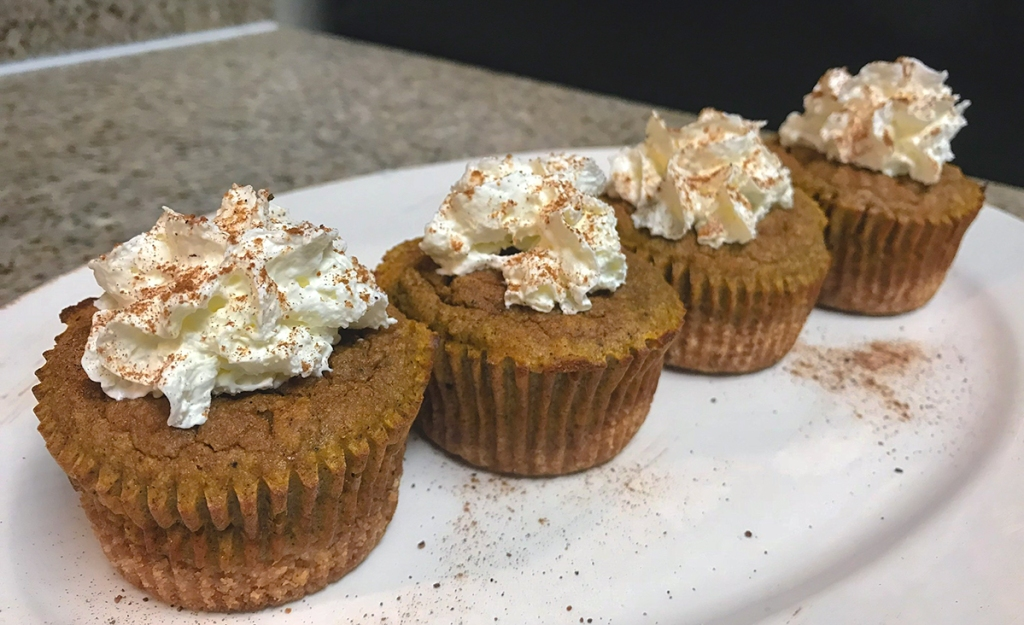 plate of keto-friendly cupcakes