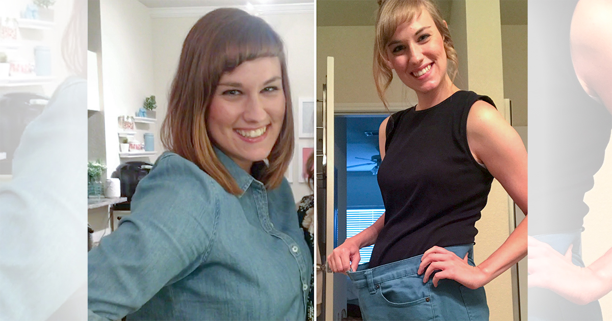 amanda weight loss comparison photo