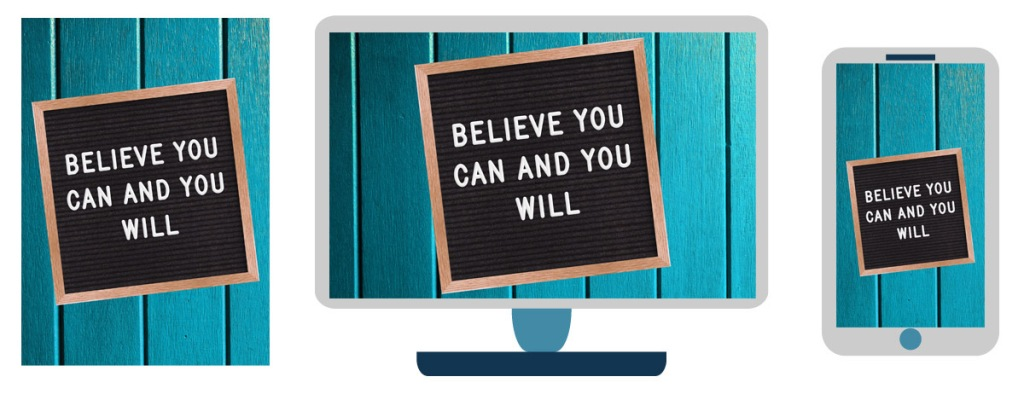 believe motivational sign