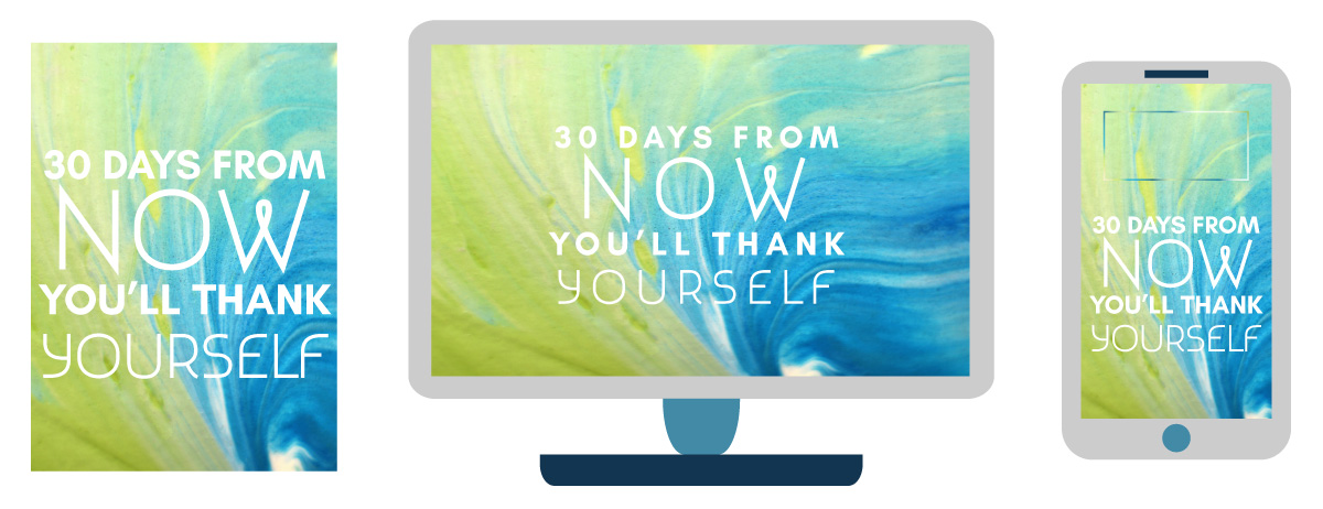 keto motivational digital download wallpaper - you'll thank yourself