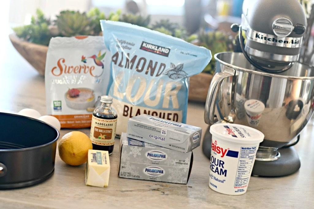 ingredients used for sugar-free keto cheesecake