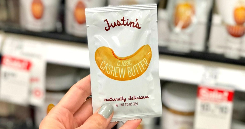 justin's cashew butter packet