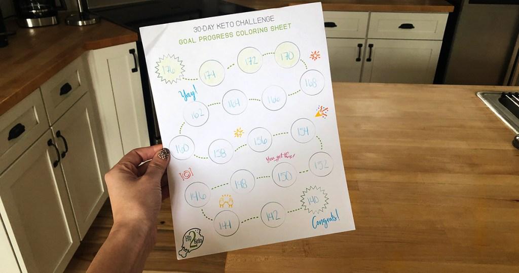 keto challenge progress sheet