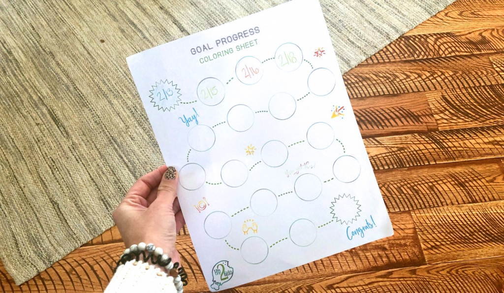 keto coloring sheet with exercise tracking