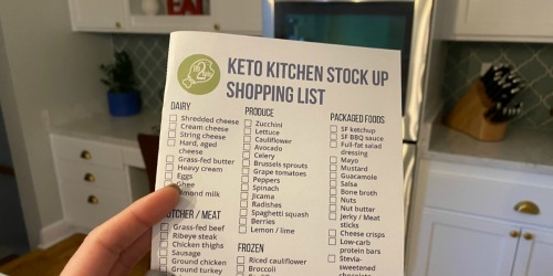 Our Printable Keto Food List is Here