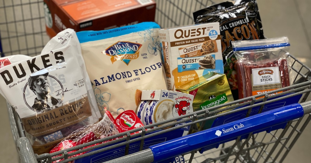 cart of keto products at sam's club