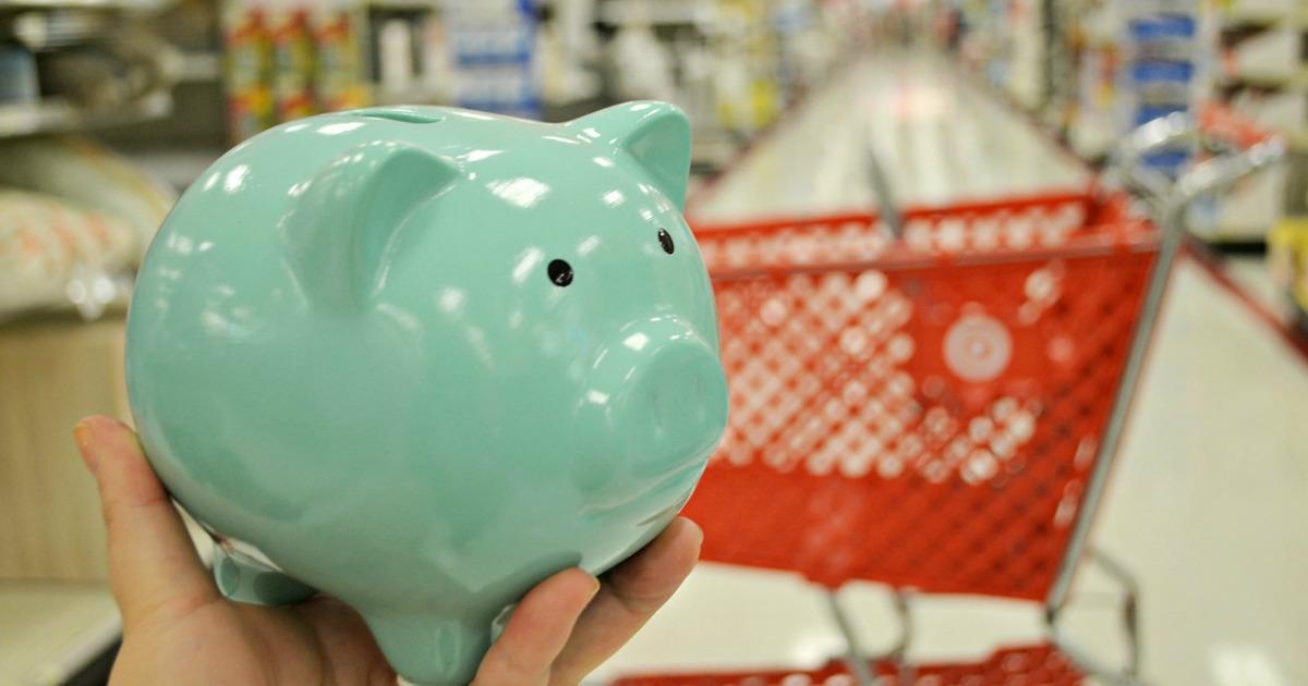mint green piggy bank at target