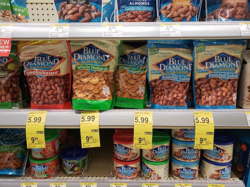 Blue Diamond almonds Walgreens sale