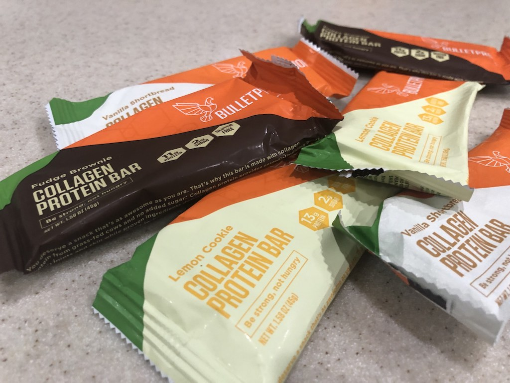 bulletproof collagen protein bars varieties