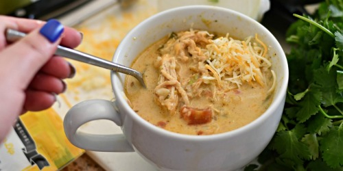 Make This Keto Slow Cooker Chicken Salsa Soup Tonight!