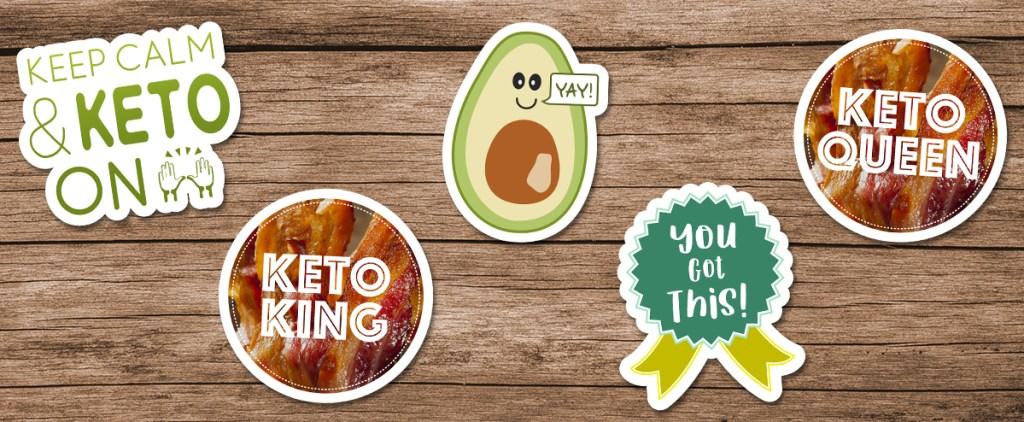 assortment of fun sticker stickers