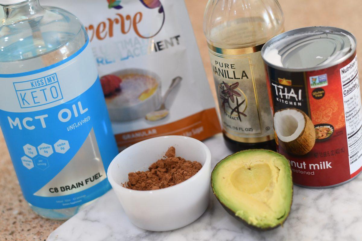 ingredients for bulletproof chocolate milkshake
