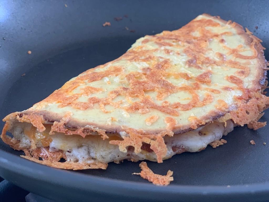 keto quesadilla in pan