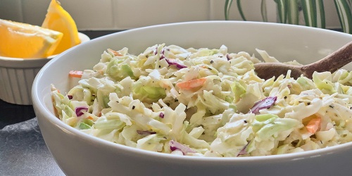 The Best Creamy Low-Carb Coleslaw