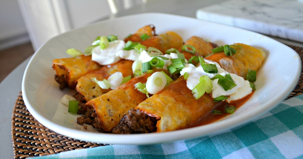 plate of keto enchiladas
