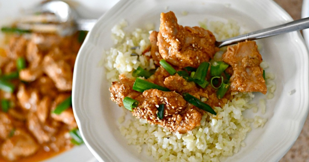 keto instant pot chicken on a plate