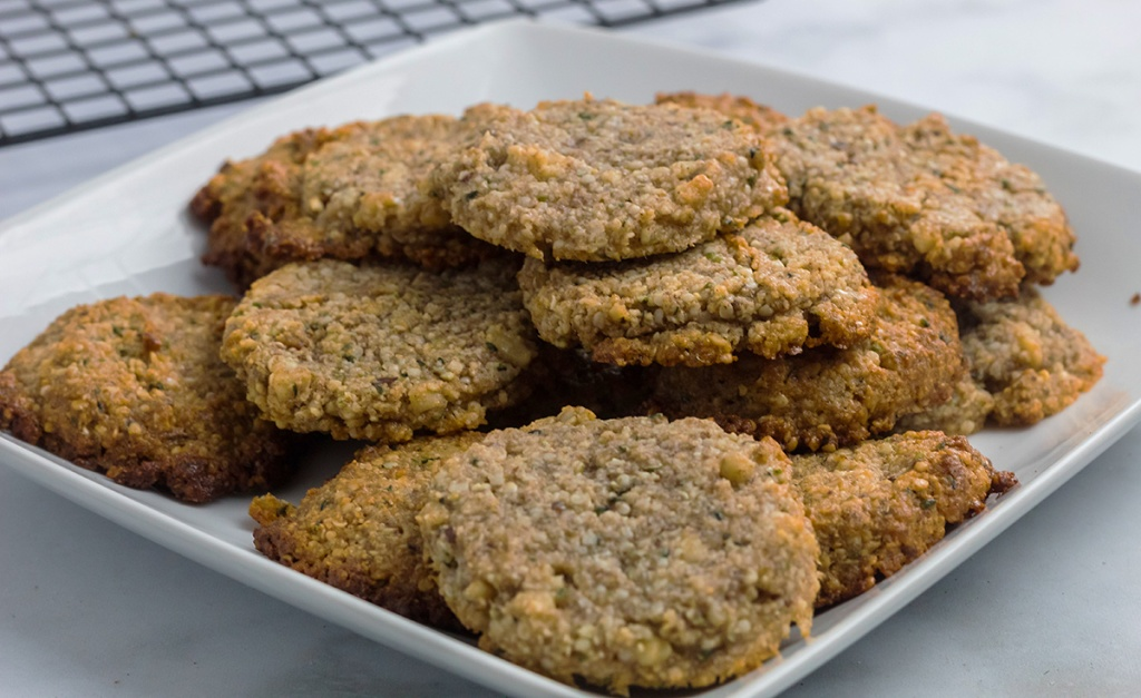 keto oatmeal cookies on plate