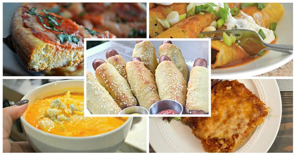 keto challenge meal plan week 1 meal collage