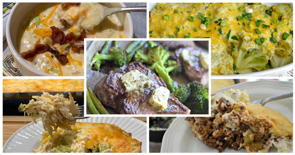 keto challenge meal plan week 2 meal collage