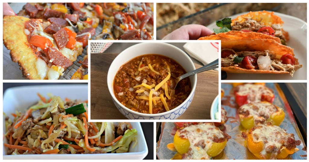 keto challenge meal plan week 3 meal collage