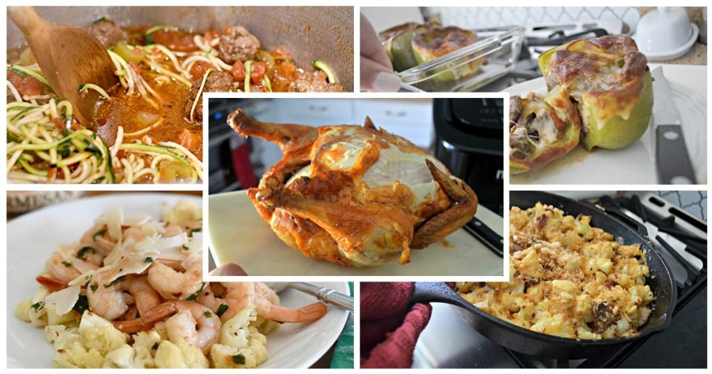 keto challenge meal plan week 4 meal collage