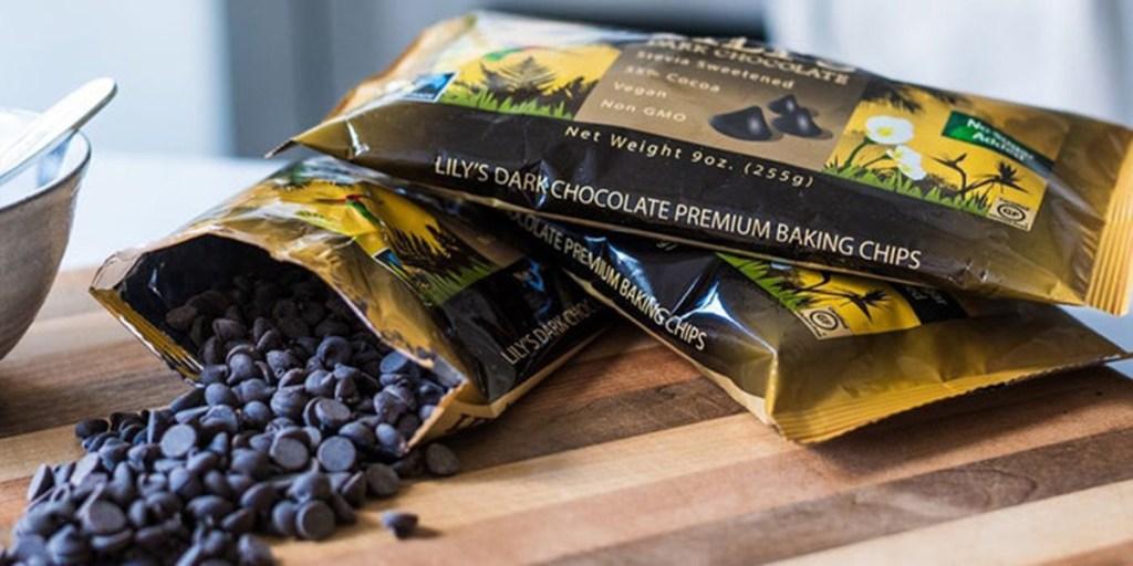 lilys dark chocolate chips