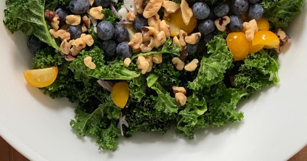 massaged kale superfood salad