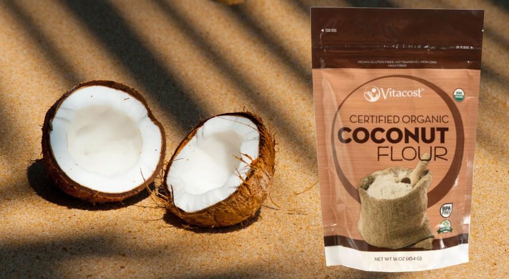 vitacost coconut flour on the beach